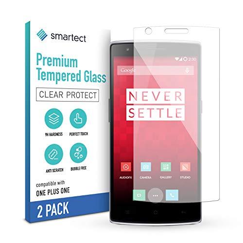 smartect Schutzglas kompatibel mit OnePlus One [2 Stück] - Tempered Glass mit 9H Festigkeit - Blasenfreie Schutzfolie - Anti-Kratzer Bildschirmschutzfolie