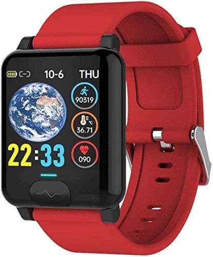 Reloj inteligente para hombres y mujeres E04S temperatura corporal ECG+PPG Monitor de presión arterial Ip68 impermeable Sport Smartwatch compatible Iso 8.0+ Android 4.4+ Exqui-B-B