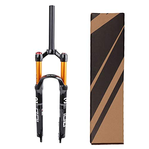VXXV MTB Magnesium Alloy Bicycle Suspension Fork 26/27.5/29 Inch, Tapered Steerer and Straight Steerer Front Fork (Color : Straight Manual Lockout, Size : 29')