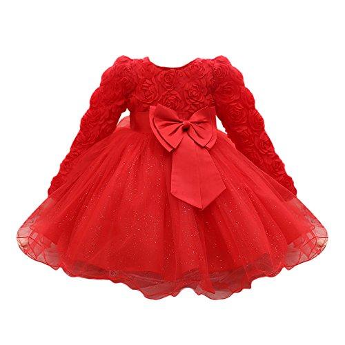 Mbby Abito Bambina Bowknot, 0-24 Mesi Vestito Bambini Tulle Senza Manica Primaverile Estivi Neonata Mini Abiti Simpatici Eleganti Ragazza Bimba Tutu