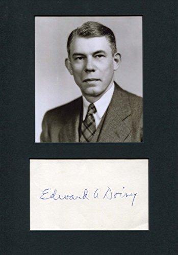 Edward Adelbert Doisy original Autogramm/Autograph/signiert