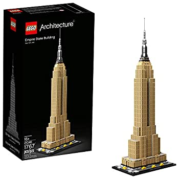 LEGO Architecture Empire State Building 21046 New York City Skyline Architecture Model Kit for Adults and Kids Build It Yourself Model Skyscraper  1767 Pieces