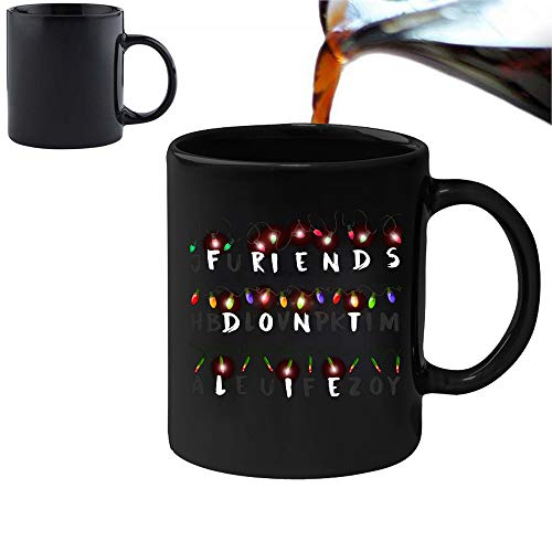 Friends Don't lie-Magic Morphing mug 311,8gram Ceramic Coffee Tea mug-perfetto San Valentino/Pasqua/estate/Natale/compleanno/Anniversary Gift