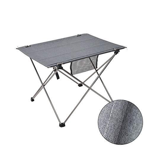 Cheniess 56 x 42 cm Mesa de Picnic al Aire Libre Plegable de Peso Ligero Jardín Balcón para Jardín Al Aire Libre (Color : Grey)