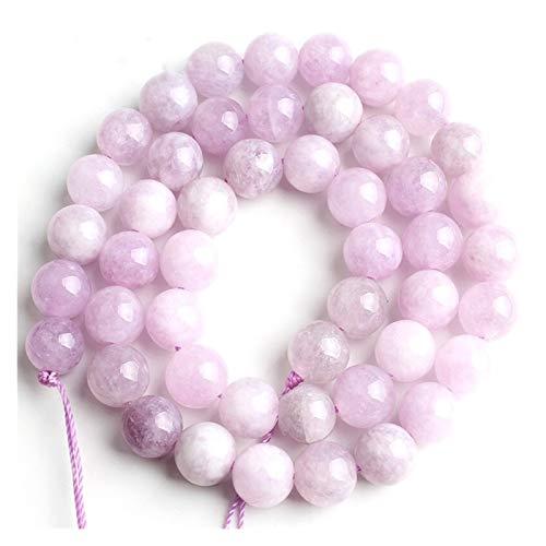 HETHYAN Púrpura Natural Bolas de Piedra Redonda Granos del Espaciador 15''Strand 4/6/8/10 mm for la joyería Que Hace DIY Collar de Las Pulseras (Item Diameter : 8mm 46pcs Beads)