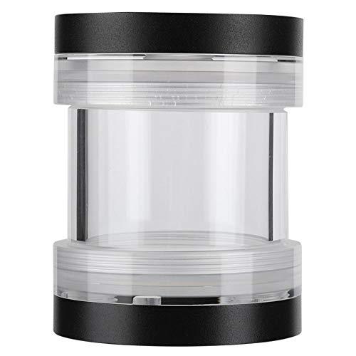 Computer Watergekoelde Cilindrische Watertank, 60 mm diameter buis, G1/4 draad, Gemaakt van hoogwaardig PMMA en aluminium, Instellingen waterkoelsysteem(zwart)