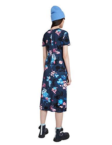 Desigual Vest_Bouquet Vestido Casual, Azul, L para Mujer