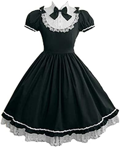 Women Girls Classic Princess Lolita Dress Halloween Cosplay Maid Dresses Anime Party Costumes product image