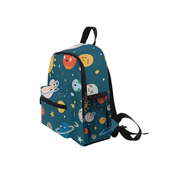 416v4ZFgYEL. SS600  - CPYang Mochila para niños con sistema solar Planet Emoji School Bag Kindergarten Preescolar Mochila para niños y niñas