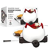 THE SHARPER IMAGE Flameless Marshmallow S'mores Maker, Includes Four Forks and Easy Cleaning Parts, Indoor Safe, Electric, For Kids and families