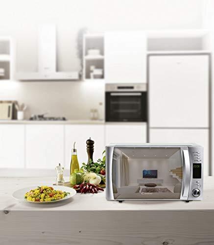 Candy CMXG 25 GDSS Microondas con Grill y Cook in App, Capacidad 25L, 40 programas automáticos, 5 Niveles, Plato Giratorio 34,5cm, Potencia 900 W / 1000 W, 25 litros, Espejo