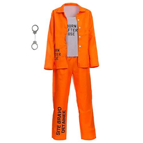 DSPLAY Damen Kostüm Gefangene Uniform - Orange - Medium