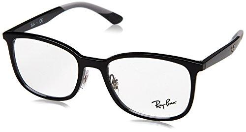 Ray-Ban Herren 0RX 7142 2000 50 Brillengestelle, Schwarz (Shiny Black)