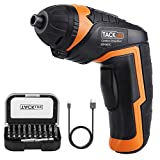 Cordless Screwdriver, TACKLIFE Electric Screwdriver, 4V MAX 2000mAh Li-ion...