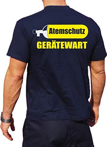feuer1 T-shirt fonctionnel Navy avec protection UV 30+, protection anti-respiratoire, double face XL bleu marine