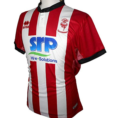 Errea Lincoln City FC Men's Home Soccer Jerseys 2019-2020 (Larg)