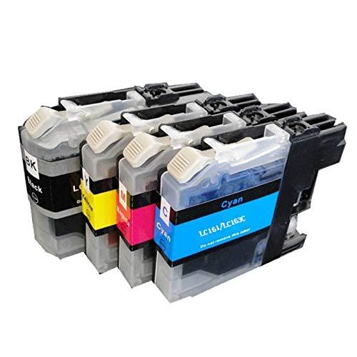 Cartucho de tinta compatible LC161 LC163, color negro y color para impresora Brother LC161 LC163 para uso con Brother DCP-J152W J552DW J752DW MFC-J245 J470DW 650DW