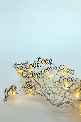Love - Guirnalda de luces LED para dormitorio, hogar, ventana, cumpleaños, fiesta, habitación de los niños, Navidad