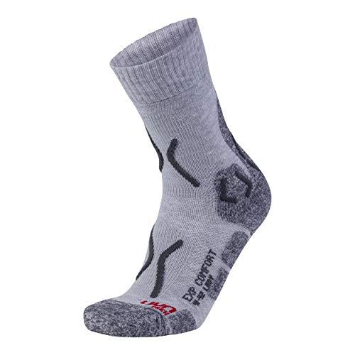 UYN Damen Trekking Explorer Comfort Socke, Light Grey Melange/Anthracite, 39-40