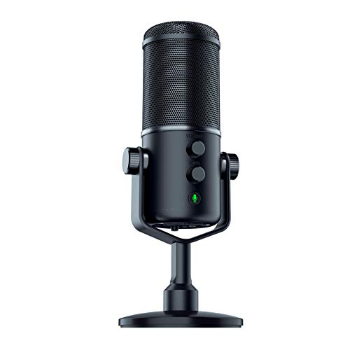 Razer Seiren Elite USB Streaming Microphone: Professional Grade High-Pass Filter - Built-In Shock Mount - Supercardiod Pick-Up Pattern - Anodized Aluminum - Classic Black