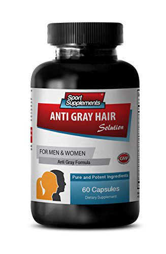 Nettle Root Extract Powder - Anti Gray Hair - Anti Gray Hair serum (1 Bottle - 60 Capsules)