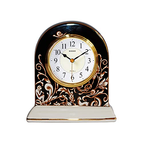 XGJJ Reloj de Mesa de cerámica, Números árabes Decoración del hogar, Adecuado para Sala de Estar, Dormitorio, Hotel, Tienda de café Decoración de Mesa Reloj de estantería