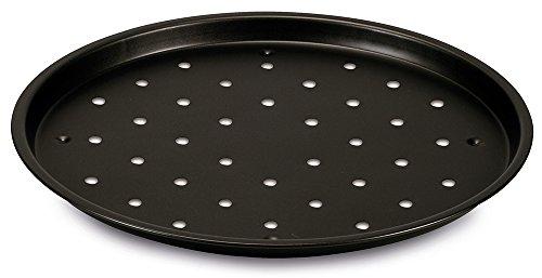 Guardini Pizza&Mania, Tegame Pizza Surgelata 32cm, Acciaio con rivestimento antiaderente, Colore nero