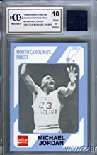 1989 UNC #65 Michael Jordan Rookie with Piece of Authentic Worn UNC Shorts Graded BGS BECKETT 10 MINT GGUM Card