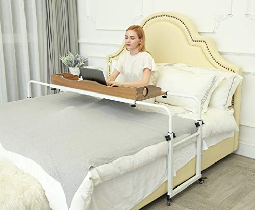 UNICOO - Height and Width Adjustable Overbed Table
