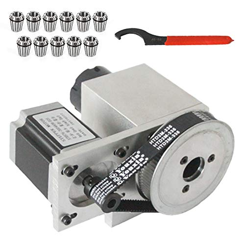 Best Buy! ER32 CNC Engraving Machine Router Axis Hollow Shaft 4th Axis Router Rotational ER32 Set 3-...