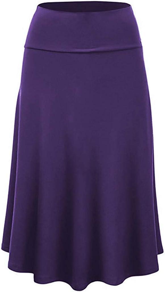 Gergeos Women Midi Skirt Solid High Waist Sexy Uniform Pleated Skirts Plus Size Ladies Swing Skirt