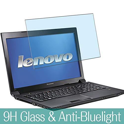 VacFun Filtro Luz Azul Vidrio Templado Protector de Pantalla para Lenovo B580 / B590 15.6' Visible Area, 9H Cristal Screen Protector Anti Blue Light Filter Película Protectora(Cobertura no Completa)