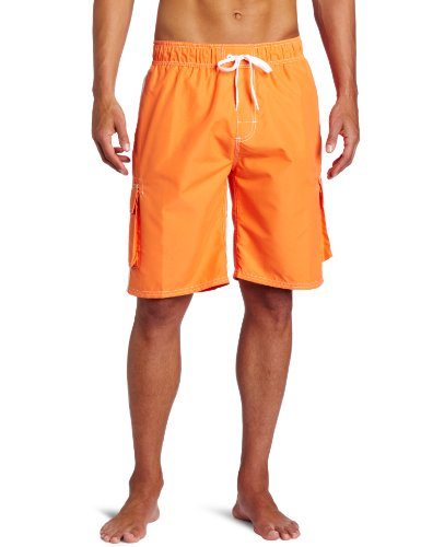 Kanu Surf Men's Barracuda Swim Trunks (Regular & Extended Sizes), Orange, 5X