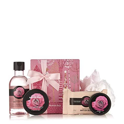 Th Body Shop - Cofanetto regalo al burro di carité, mango, fragola, Fuji, tè verde, cocco, pina colada, rosa inglese Shea