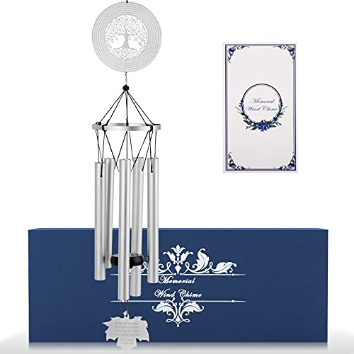 """Geegoods Memorial Wind Chimes ,29.5"""" Large Sympathy Wind Chimes, Weatherproof Bereavement Gifts Wind Chimes for Loss of Loved One"""