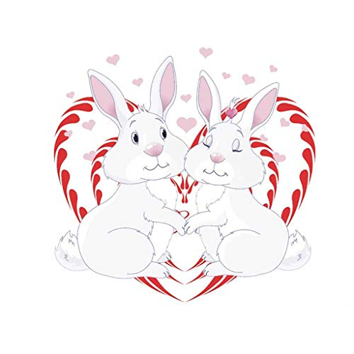 Lovely Cartoon Easter Rabbit Wall Sticker Kids Room Bedroom Decal Home Stickers, Wall Sticker, for Easter Day (A)