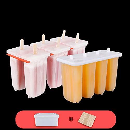 Yjdr Popsicle Moisissures Set - BPA et FDA certifié Salubrité des aliments, Homemade Ice Cream Mold crème glacée maison Coffret Facile à Libération, avec couvercle for prévenir Brochette, Envoyer 100