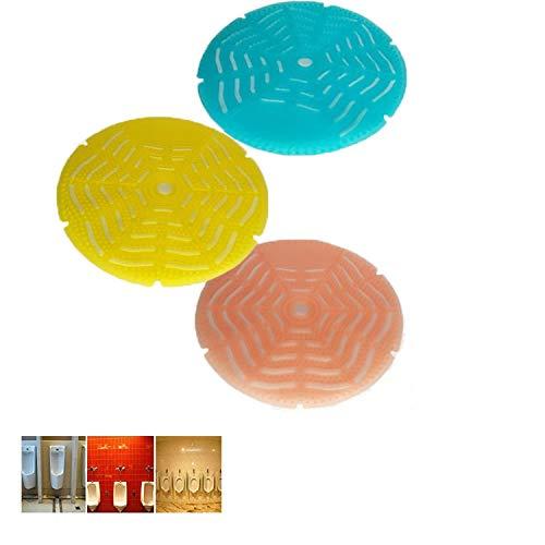 Desodorizador de filtro de urinario (paquete de 6) a 5000 descargas anti-salpicaduras, el aroma dura 30 días, se adapta a la mayoría de las marcas de urinarios en restaurantes, oficinas。