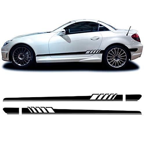 vitesurz Auto Seitenstreifen Seitenaufkleber Aufkleber, Für Mercedes Benz SLK Klasse R170 R171 R172 SLK55 AMG...