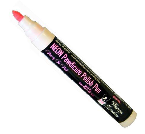 Warren London - Pawdicure Polish Pen, Non-Toxic and Fast Drying Dog Nail Polish - Neon Pink