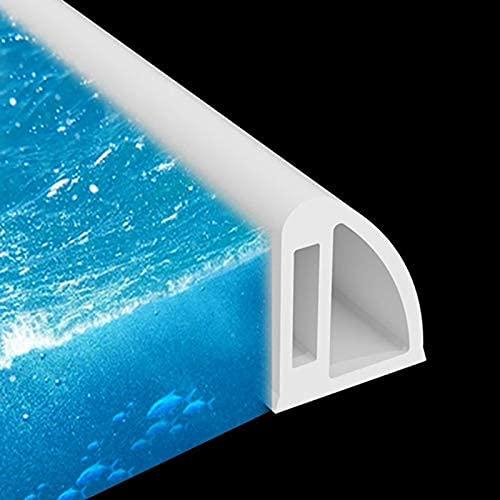 Gel de sílice Ducha de Tira de Sellado de Puerta,Barrera de Ducha y Sistema de retención,Barrera de Ducha Plegable para umbral de Ducha,Barrera de Agua para separación en seco y húmedo,White,80cm