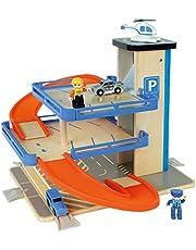WOOMAX- Parking de madera con accesorios (Colorbaby 46258)
