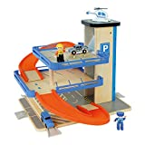 WOOMAX- Parking de madera con accesorios (Color Baby 46258)