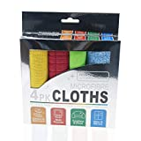 Lorpect 4 Colors 12X12inch Microfiber Cleaning Cloth Dust Rag Dust Cloths Cleaning Towels ...