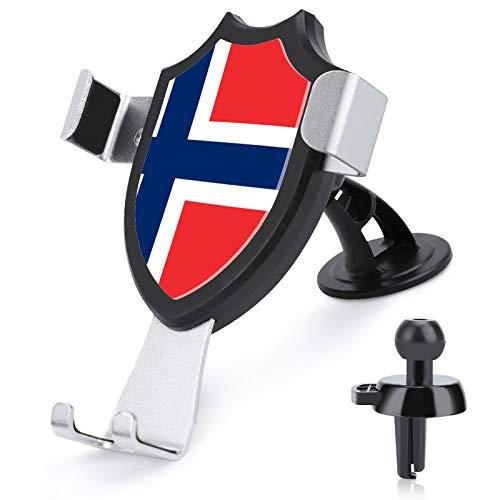 Soporte de ventilación para coche con manos libres, bandera noruega compatible con iPhone 12/12 Pro/11 Pro Max/8 Plus Samsung Galaxy S20 y más de 4 a 6 pulgadas