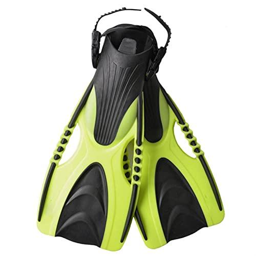 GDYJP Aletas de natación para Adultos Snorkeling Pie Luppers Niño Aletas Ajustables Zapatos de Rana Silicona Profesional Equipo Entrenamiento (Color : Yellow, Tamaño : 36-40)
