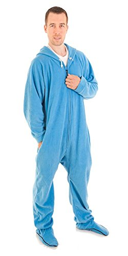 Forever Lazy Footed Adult Onesie - Bum Around Blue - XS
