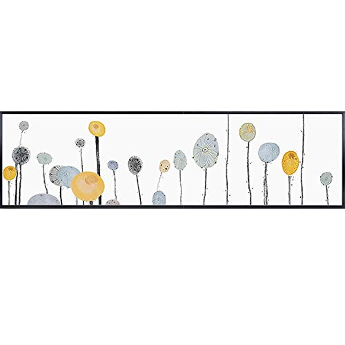 Flduod ART Nordic Style Posters Flowers Dandelion Canvas Painting Fresh Home Decor Wall Art Pictures For Living Room60x240cm