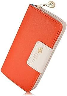 Women's Elegant Style Multi-Card Long Zipper Wallet Clutch Purse with Bird Hasp