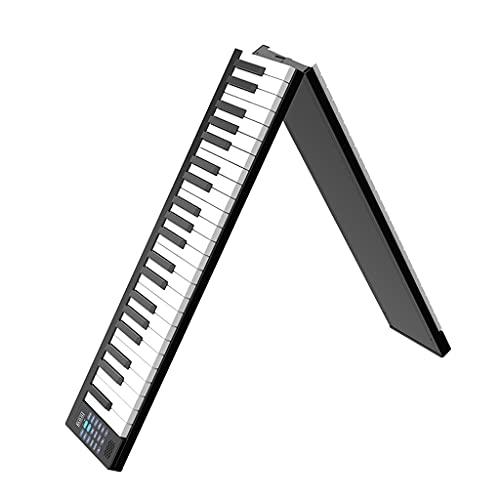 RYSF Órgano electrónico Teclado de 88 Teclas Piano eléctrico Piano Digital portátil con Pantalla LCD Altavoces incorporados Batería Recargable Conectividad BT (Size : B)